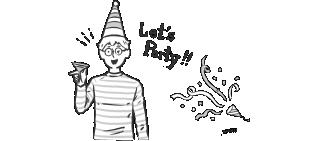 パーティを楽しむ家